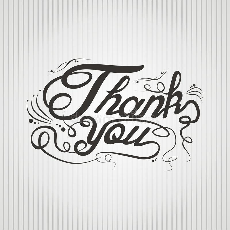 Download Thank You Hand Lettering Stock Illustration Of
