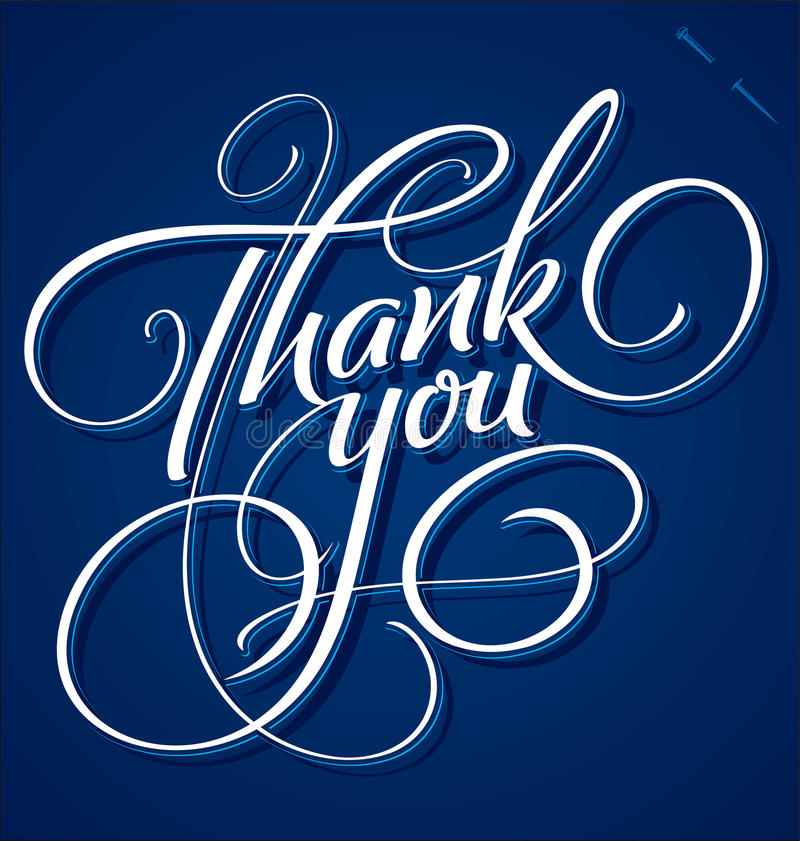 Free Thank You Hand Lettering (vector) Royalty Free Stock Photos - 26948448
