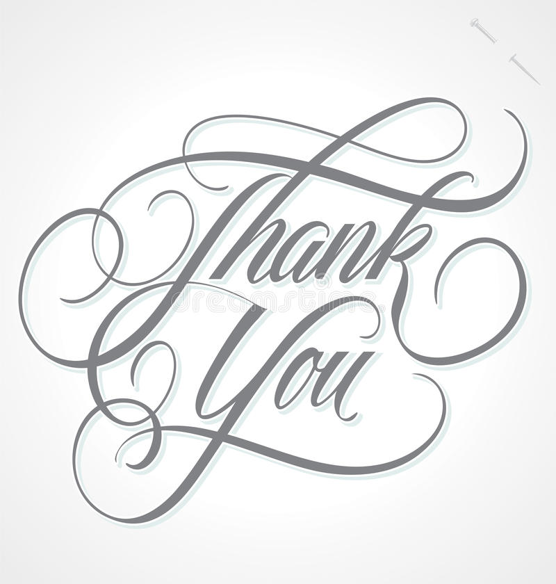Free THANK YOU Hand Lettering (vector) Stock Images - 40321364