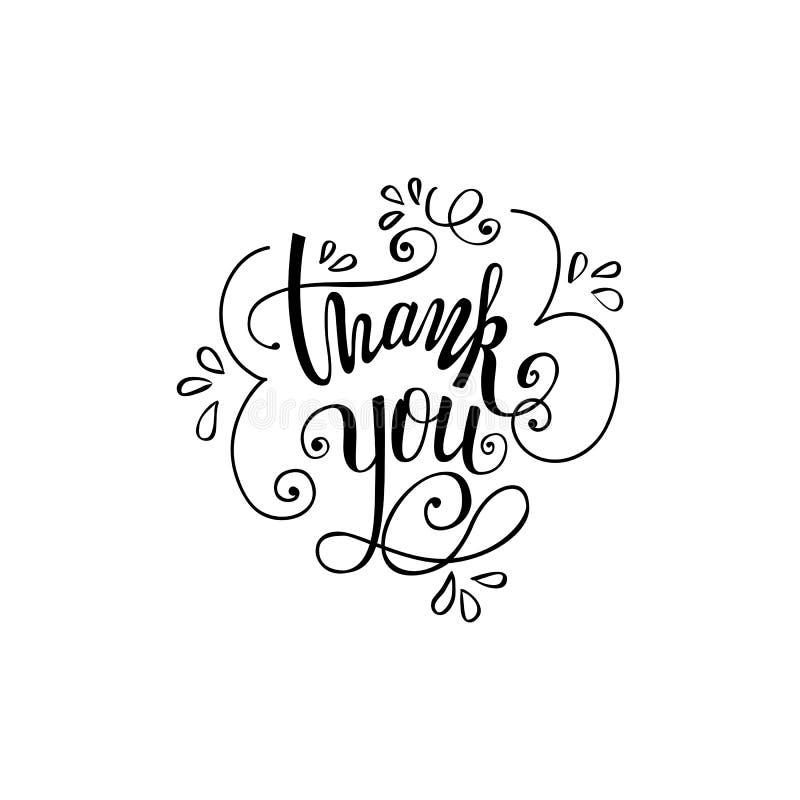 Thank you handwritten vector illustration royalty free illustration