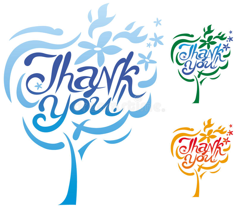 Thank You Inscription Royalty Free Stock Image