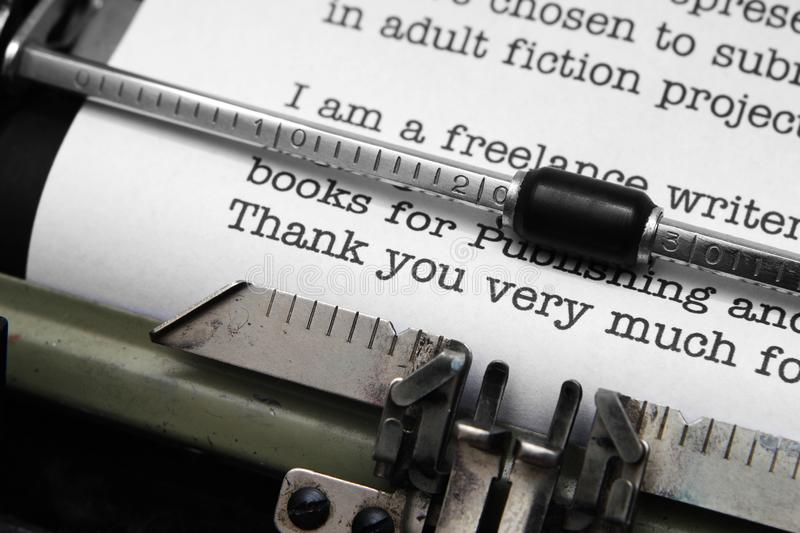 Download Thank you letter stock image. Image of retro, copyspace - 31078007