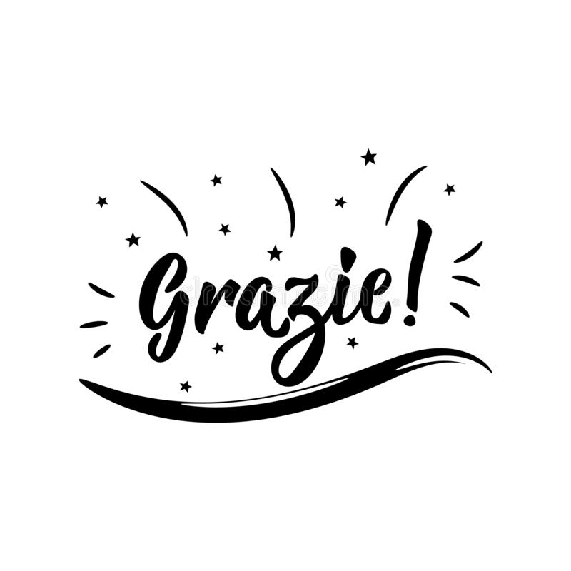 Translator Italian: Grazie Stock Illustrations