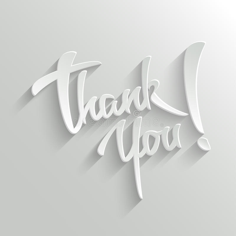 Free Thank You Lettering Greeting Card Royalty Free Stock Images - 39614669