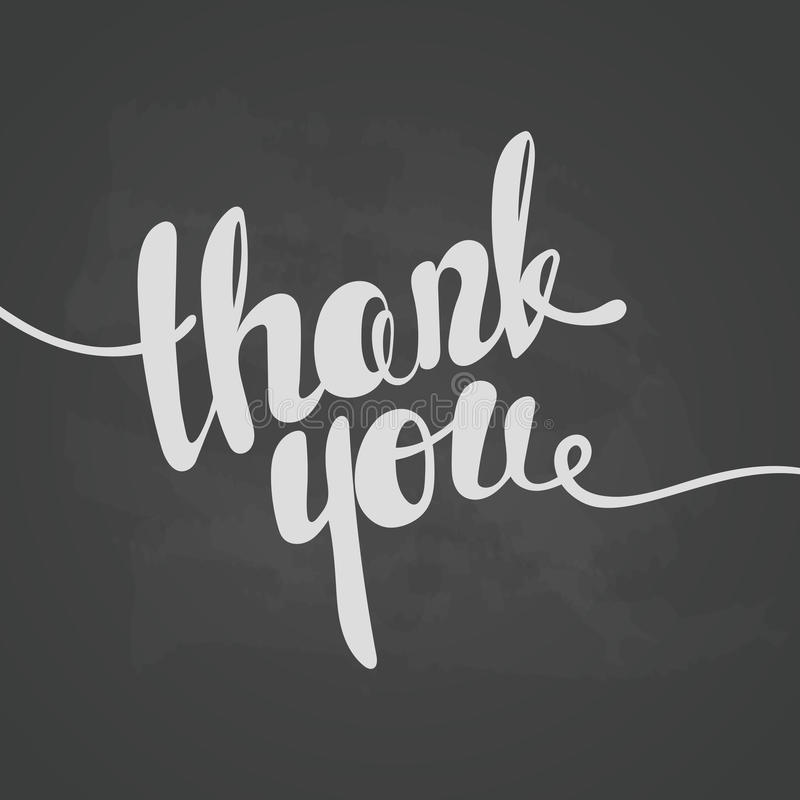 Thank you lettering. Hand written Thank you poster.Lettering On vector illustration