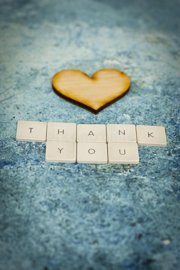 Thank you letters royalty free stock image