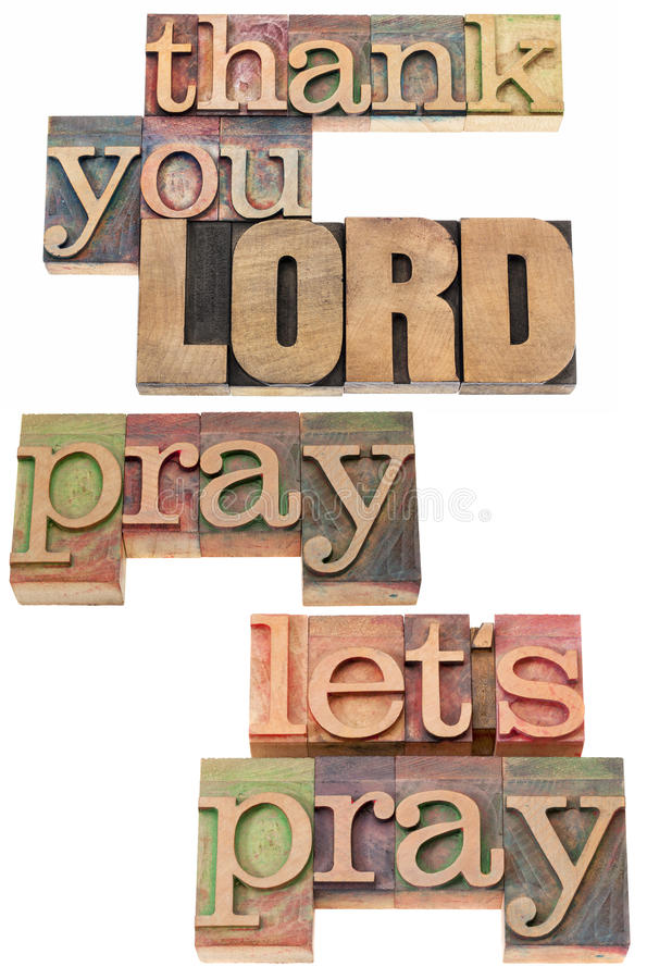 Download Thank You Lord In Wood Type Stock Image - Image: 29956241