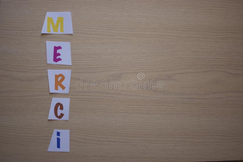 Thank You - Merci stock photo