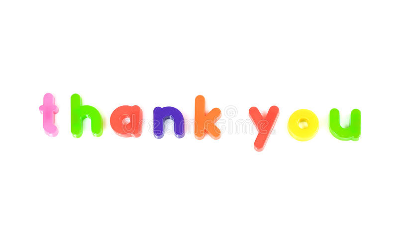 Download Thank you message stock photo. Image of word, magnet - 12777236