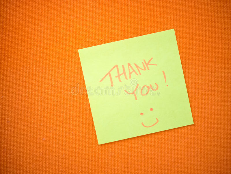 Thank you message royalty free stock image