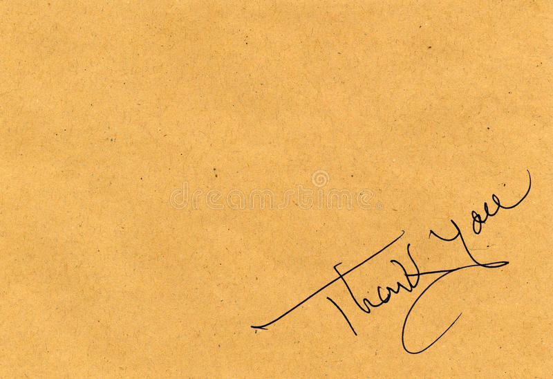 Thank you message royalty free stock photo