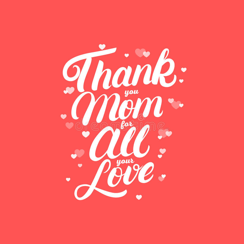 Thank you mom for all your love hand written lettering stock vector download thank you mom for all your love hand written lettering stock vector illustration m4hsunfo