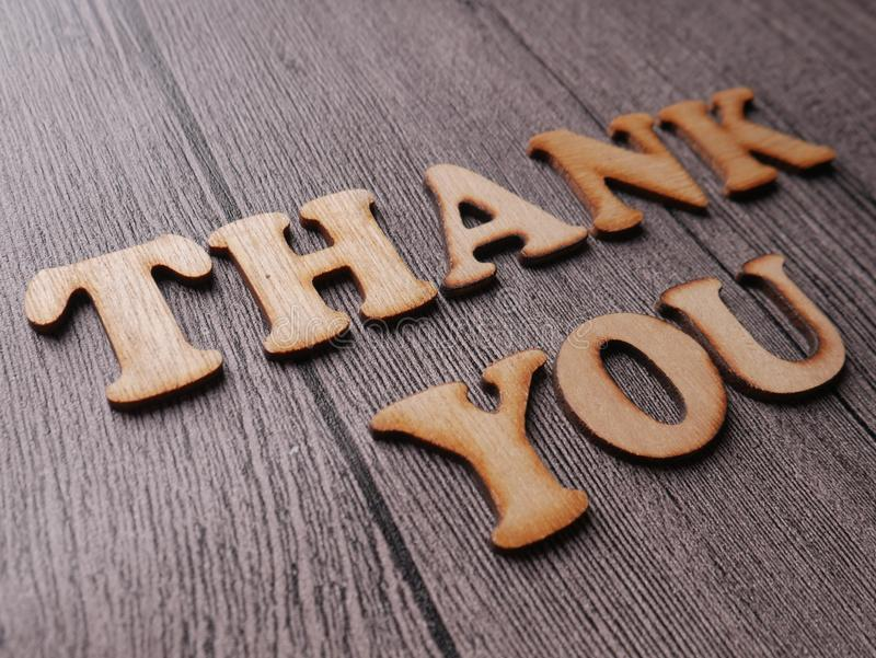 Thank You, Motivational Words Quotes Concept. Thanks, thank you words letter, wooden motivational business typography quotes concept, gratitude, text, card stock photography