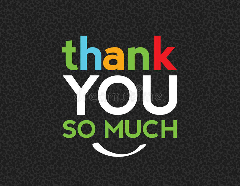 Download Thank You So Much Message stock vector. Illustration of message - 21864886
