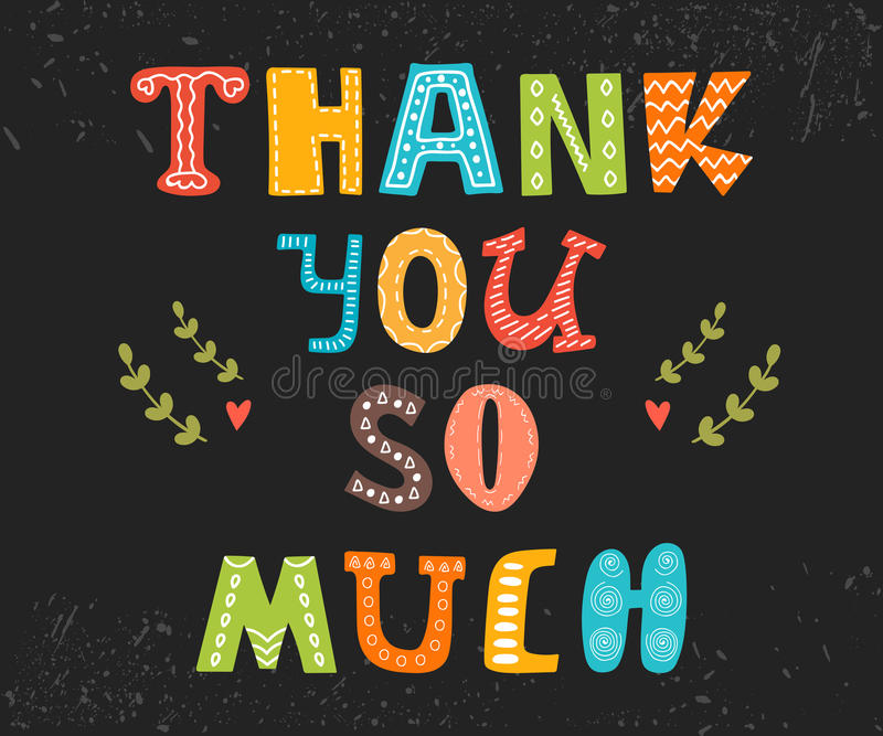 thank you so much postcard cute greeting card stock