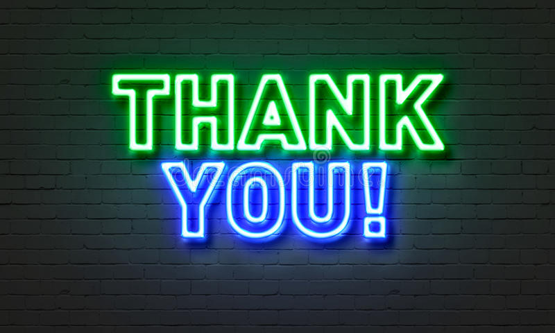 Thank you neon sign on brick wall background stock illustration download thank you neon sign on brick wall background stock illustration illustration of element voltagebd Gallery