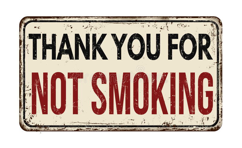 Thank you for not smoking vintage metal sign. Thank you for not smoking vintage rusty metal sign on a white background, vector illustration vector illustration