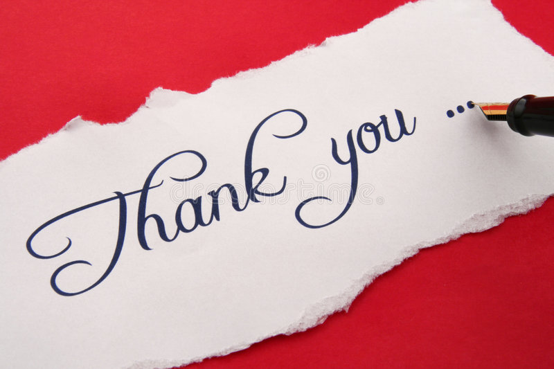 Thank You Note Stock Image Image Of Writing Hand Blue
