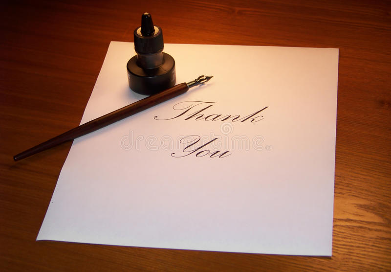 Download Thank you Note stock photo. Image of black, traditional - 19483106