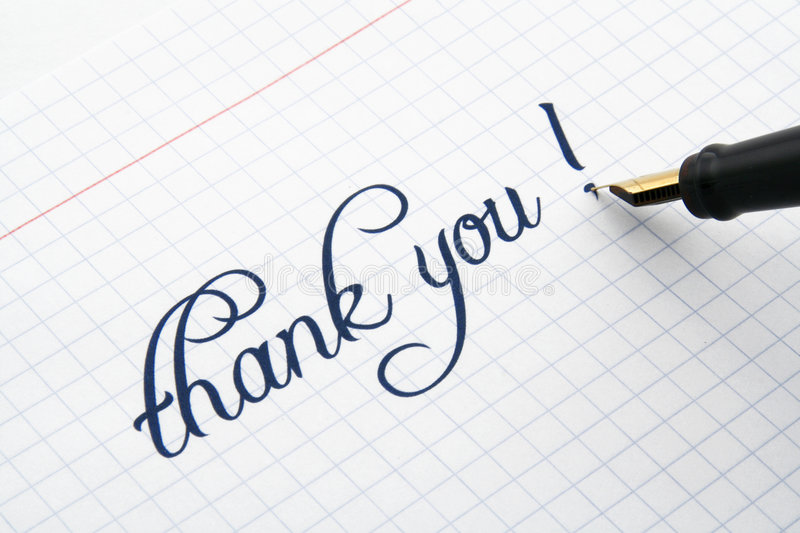 Download Thank you note stock image. Image of piece, information - 1998915