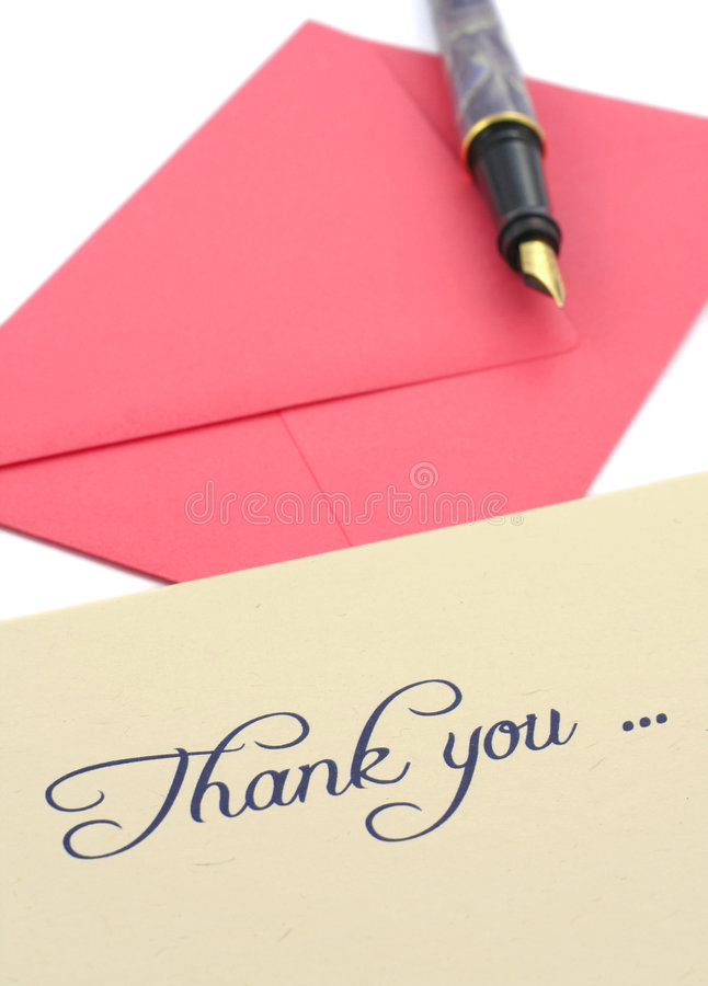 Download Thank you note stock image. Image of correspondence, thanks - 2713085