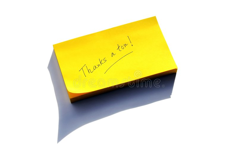 Download Thank you note stock photo. Image of thankyou, note, hand - 7098676
