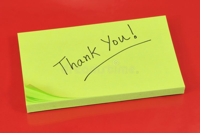 Download Thank you note stock photo. Image of isolated, handwritten - 7294550