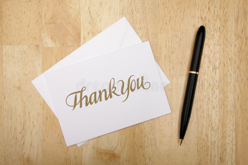 Download Thank You Note Card And Pen Stock Photography - Image: 4024532