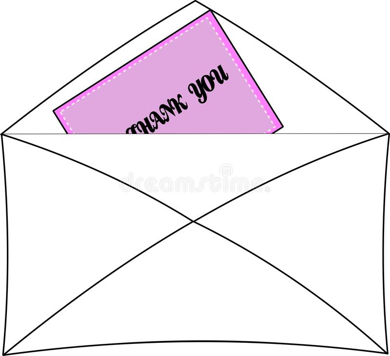 Download Thank You Note In Envelope Stock Photography - Image: 23238682