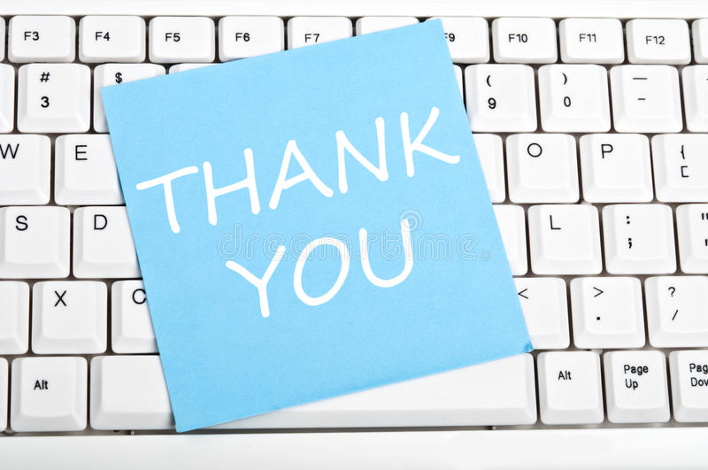 Download Thank you note on keyboard stock image. Image of white - 20696289