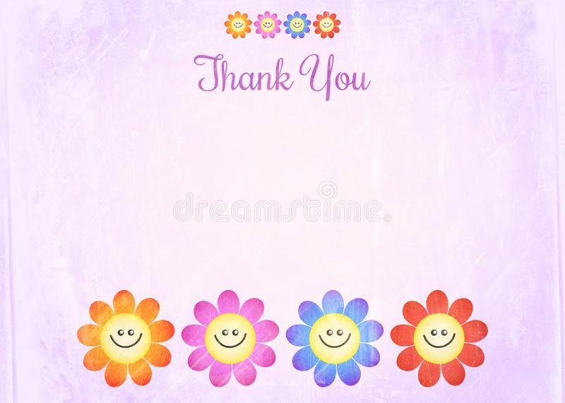 Thank You Note Paper vector illustration