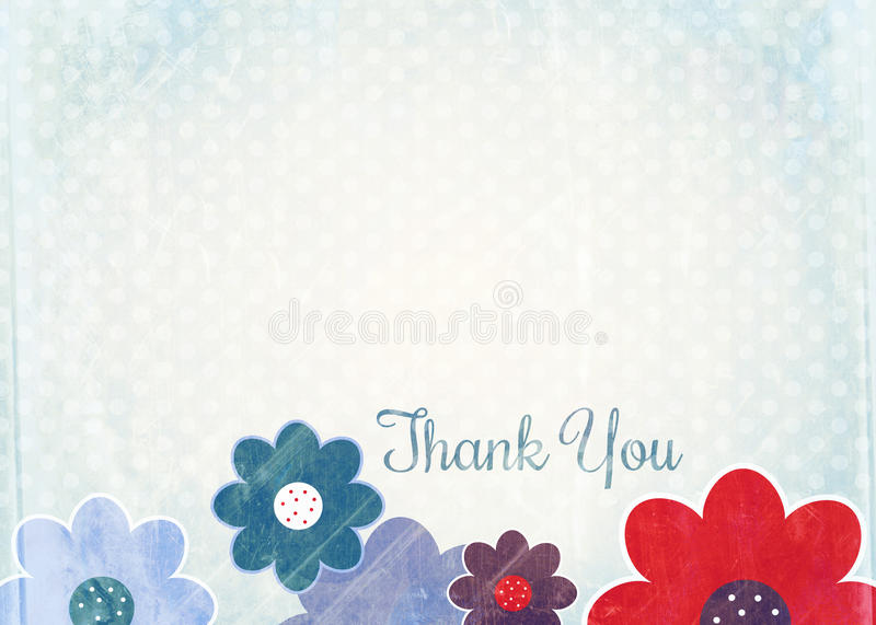 Thank You Note Paper royalty free illustration