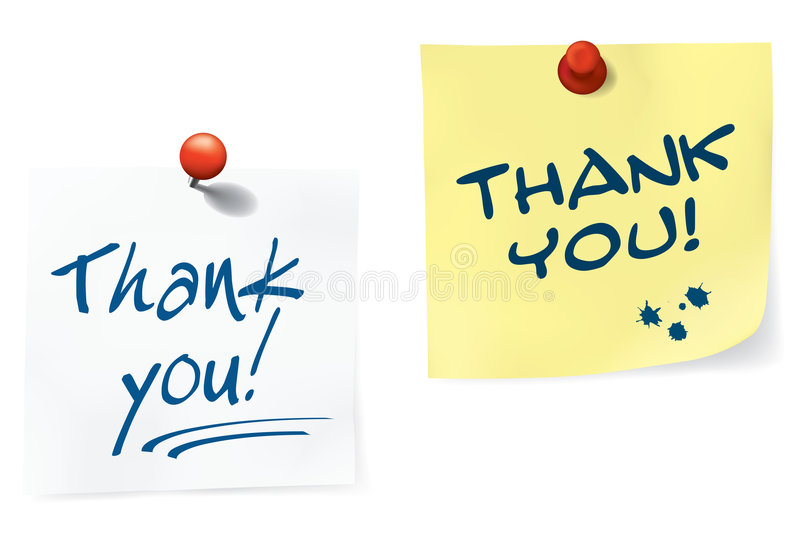 Download Thank You Notes Set Royalty Free Stock Photos - Image: 8029968