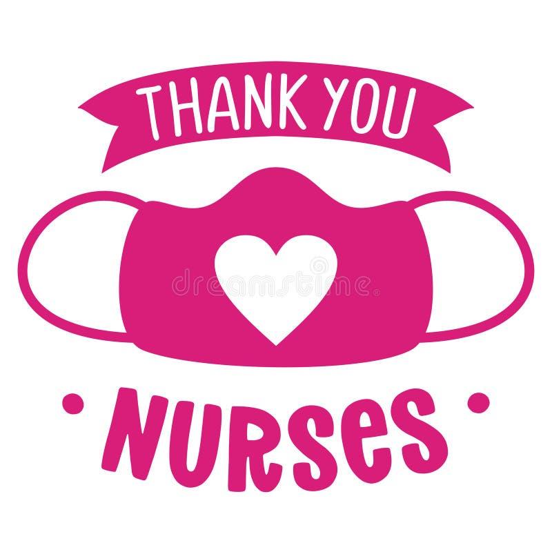 Free Thank You Nurses, Face Mask With Heart Shape - STOP Coronavirus, Doctor T-shirt. Royalty Free Stock Photos - 211356658