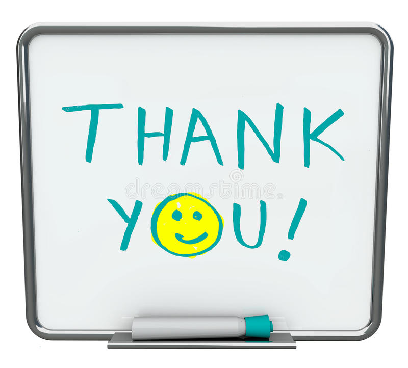 Free Thank You On Dry Erase Board Royalty Free Stock Images - 12233319