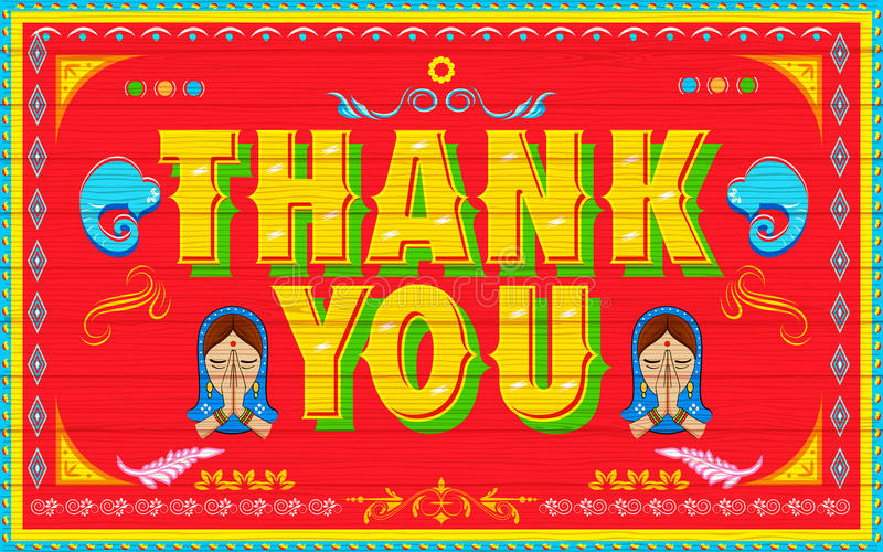 Download Thank You Poster stock vector. Image of background, india - 35992961