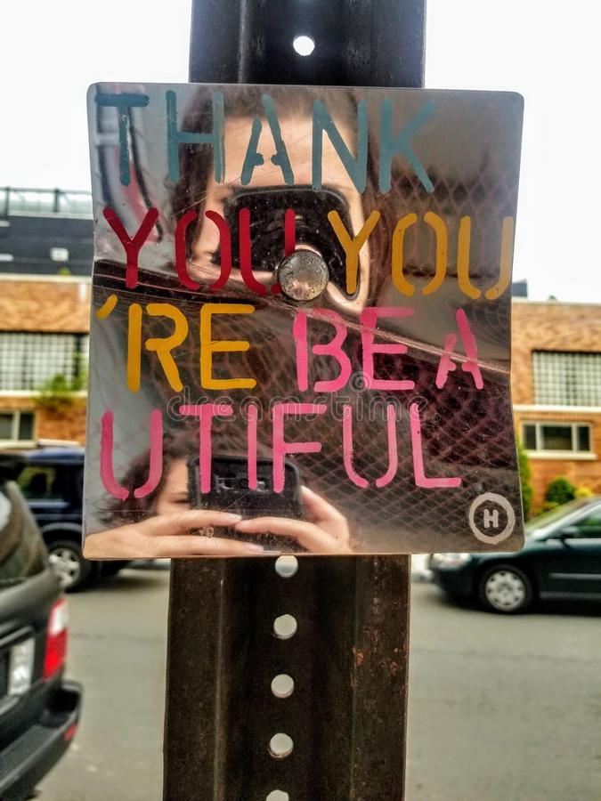 Thank you, you& x27;re beautiful ❤ royalty free stock photography
