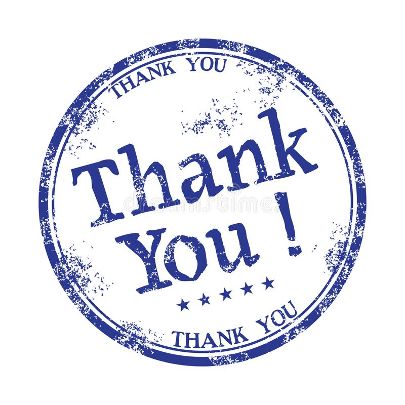 Thank you rubber stamp royalty free stock photography