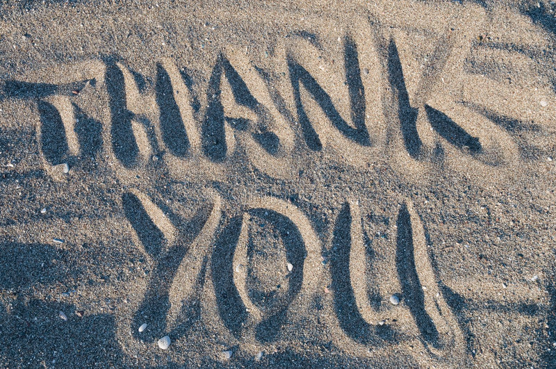 Download Thank you in sand stock image. Image of beach, thank, ocean - 5981667