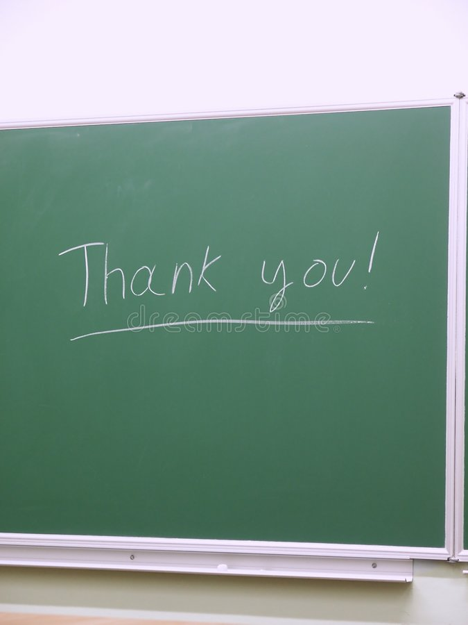 Download Thank you on school board stock image. Image of educational - 3864541