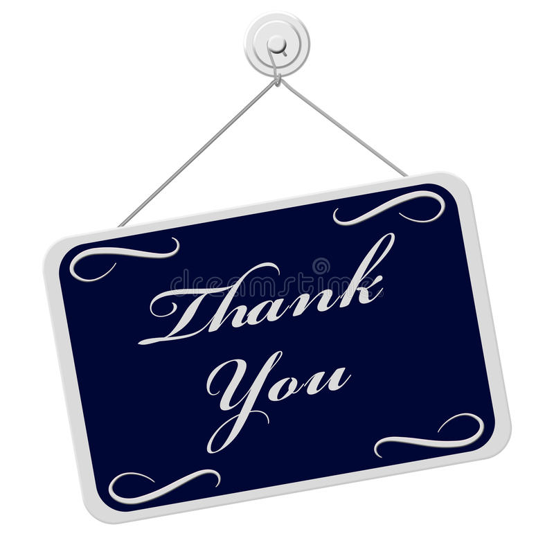 Thank You Sign vector illustration