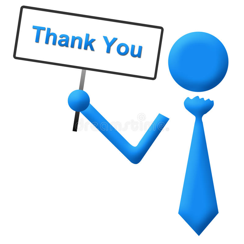 Thank You Signboard Blue Royalty Free Stock Photo