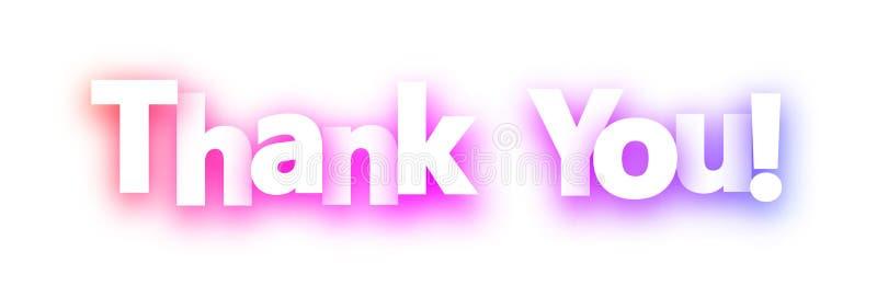 Thank you spectrum banner on white background. vector illustration