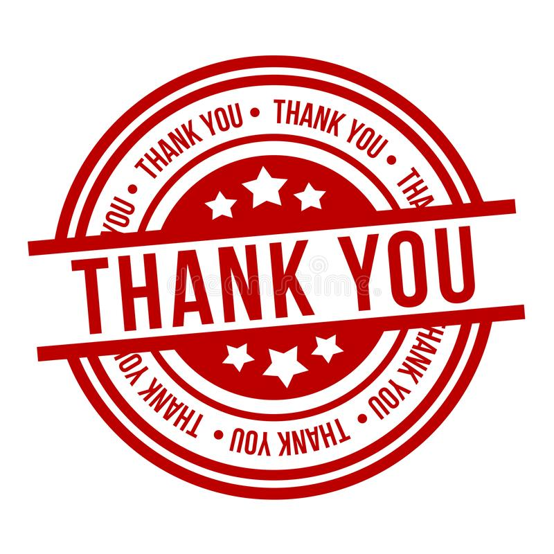 Thank You Stamp. Red Badge stock illustration