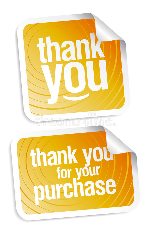 Thank you stickers royalty free illustration