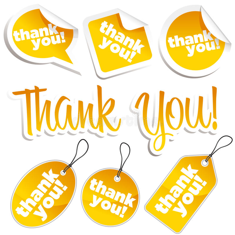 Download Thank You Stickers And Tags Stock Vector - Image: 22724712
