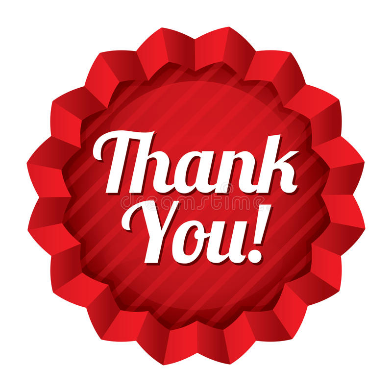 Download Thank You Tag. Red Round Star Sticker. Stock Illustration - Image: 33480656