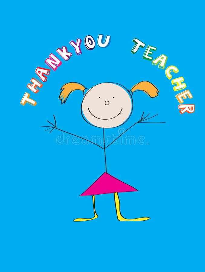 Download Thank you teacher stock vector. Image of student, thanks - 10474114