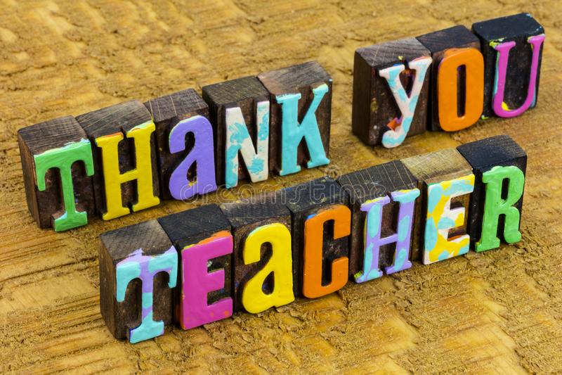 Thank you teacher happy school education appreciation school. Thank you teacher and happy school education appreciation with school children students.  Thanks stock photos