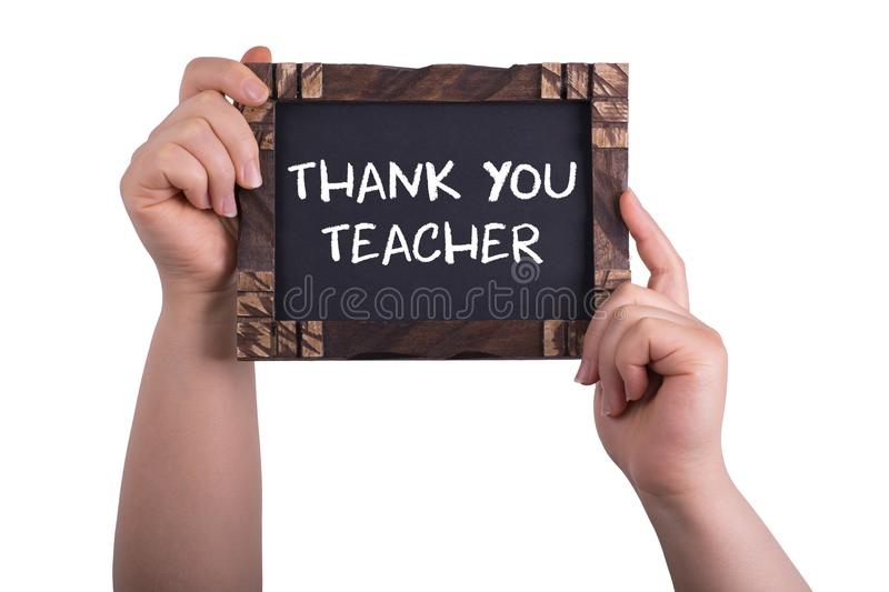 Thank you teacher royalty free stock images